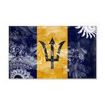 Barbados Flag 22x14 Wall Peel