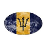 Barbados Flag 38.5 x 24.5 Oval Wall Peel