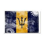 Barbados Flag Car Magnet 20 x 12
