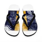 Barbados Flag Flip Flops