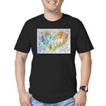 Community Hearts Color Men's Fitted T-Shirt (dark)