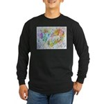 Community Hearts Color Long Sleeve Dark T-Shirt