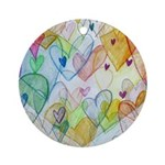 Community Hearts Color Ornament (Round)