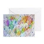 Community Hearts Color Greeting Card