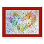Community Hearts Color Small Poster