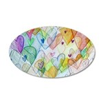Community Hearts Color 20x12 Oval Wall Decal