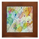 Community Hearts Color Framed Tile