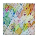 Community Hearts Color Tile Coaster