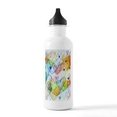 Community Hearts Color Water Bottle