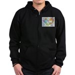 Community Hearts Color Zip Hoodie (dark)