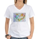 Community Hearts Color Women's V-Neck T-Shirt