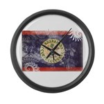 Belize Flag Large Wall Clock