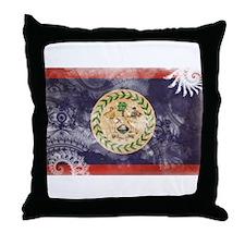 Belize Flag Throw Pillow