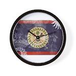 Belize Flag Wall Clock