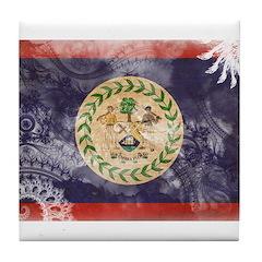 Belize Flag Tile Coaster