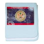 Belize Flag baby blanket