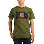 Belize Flag Organic Men's T-Shirt (dark)