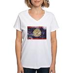 Belize Flag Women's V-Neck T-Shirt