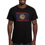 Belize Flag Men's Fitted T-Shirt (dark)