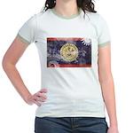 Belize Flag Jr. Ringer T-Shirt