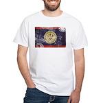 Belize Flag White T-Shirt