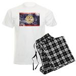 Belize Flag Men's Light Pajamas