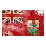 Bermuda Flag Sticker (Rectangle 50 pk)