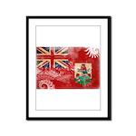 Bermuda Flag Framed Panel Print