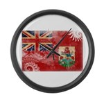 Bermuda Flag Large Wall Clock