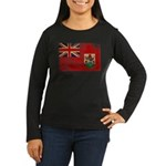 Bermuda Flag Women's Long Sleeve Dark T-Shirt