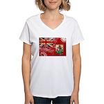Bermuda Flag Women's V-Neck T-Shirt