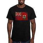Bermuda Flag Men's Fitted T-Shirt (dark)