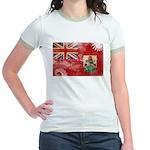 Bermuda Flag Jr. Ringer T-Shirt