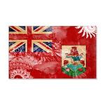Bermuda Flag 22x14 Wall Peel