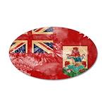 Bermuda Flag 38.5 x 24.5 Oval Wall Peel