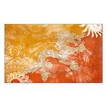 Bhutan Flag Sticker (Rectangle 50 pk)