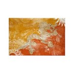 Bhutan Flag Rectangle Magnet (100 pack)