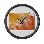 Bhutan Flag Large Wall Clock