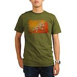 Bhutan Flag Organic Men's T-Shirt (dark)