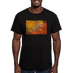 Bhutan Flag Men's Fitted T-Shirt (dark)