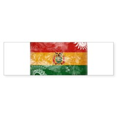 Bolivia Flag Sticker (Bumper)