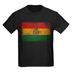Bolivia Flag Kids Dark T-Shirt