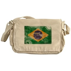 Brazil Flag Messenger Bag