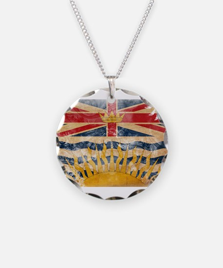 British Columbia Flag Necklace