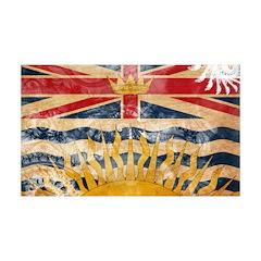 British Columbia Flag 38.5 x 24.5 Wall Peel