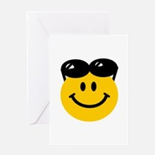 Perched Sunglasses Smiley Greeting Card