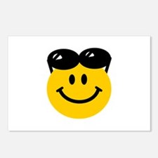 Perched Sunglasses Smiley Postcards (Package of 8)