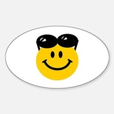 Perched Sunglasses Smiley Decal