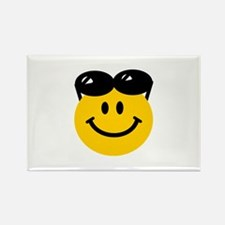 Perched Sunglasses Smiley Rectangle Magnet