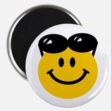 Perched Sunglasses Smiley Magnet